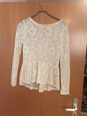 H&M Divided Lace Top natural white