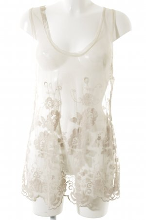Lace Top nude flower pattern lace look