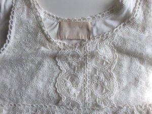 Spitzentop Shirt Spitze H&M Conscious Collection Gr 34 XS Creme Weiss Neu
