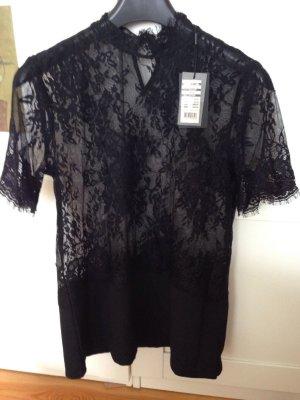 Spitzentop, T shirt spitze, schwarz, soyaconcept, Neu, S