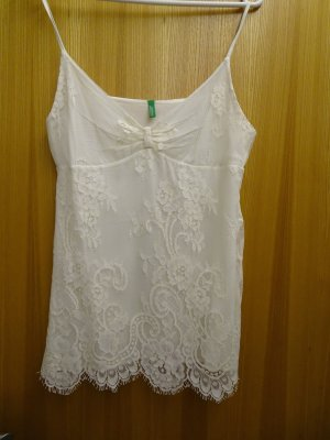 Benetton Lace Top cream cotton