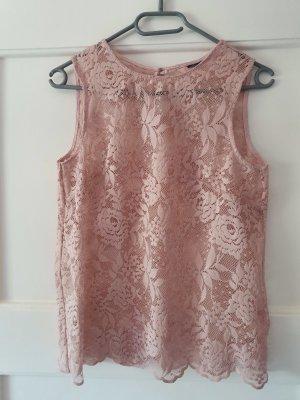 Vero Moda Top di merletto rosa pallido