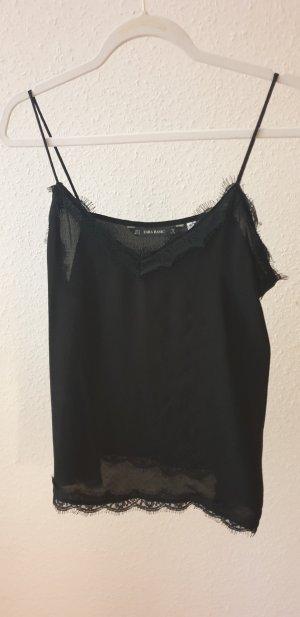 Zara Basic Top de tirantes finos negro