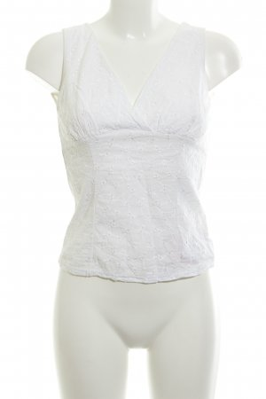 Lace Top natural white beach look