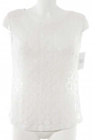 Lace Top natural white romantic style