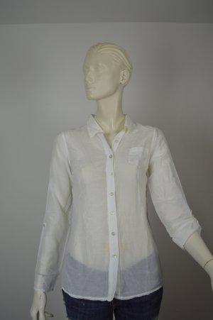 Splendid Bluse langärmelig Gr. S weiß neuwertiger Zustand Seide