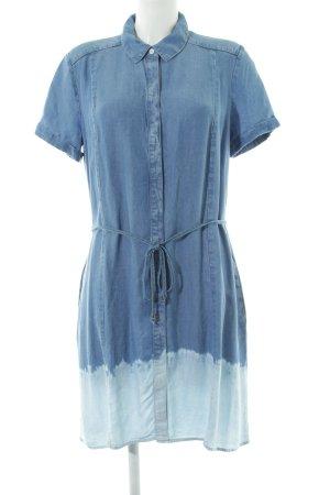 Splendid Blusenkleid blau Farbverlauf Jeans-Optik