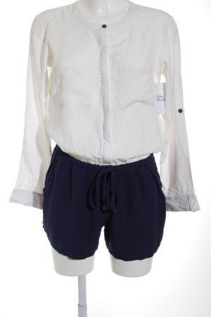 Splendid Jumpsuit weiß-dunkelblau Casual-Look