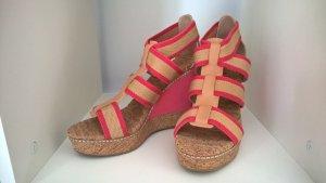 Splendid Keil Sandalen Pink Camel 39