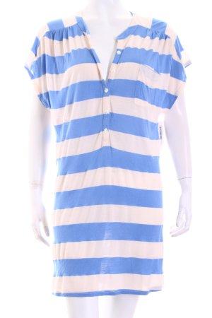 Splendid Longshirt creme-kornblumenblau Streifenmuster sportlicher Stil
