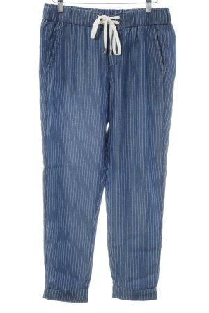 Splendid Stoffhose dunkelblau-wollweiß klassischer Stil
