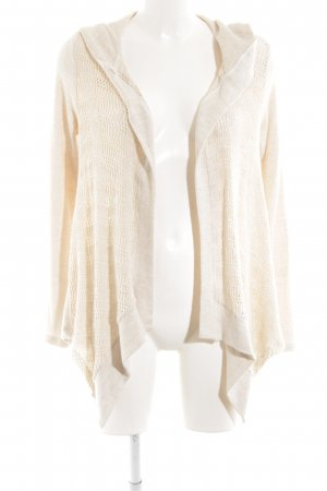 Splendid Knitted Wrap Cardigan cream weave pattern casual look