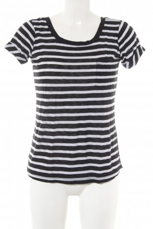 Splendid T-Shirt weiß-schwarz Streifenmuster