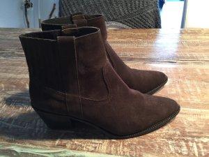 Split Suede Cowboy Boots von Massimo Dutti