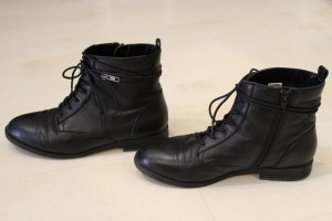 Spm Bottines plissées noir cuir