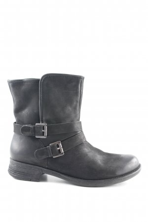 Spm Booties schwarz Biker-Look