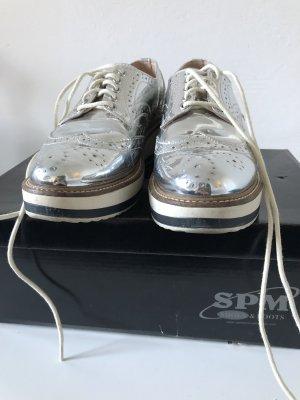 Spm Lace Shoes silver-colored