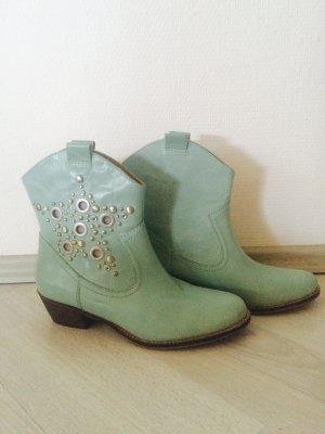 SPM Cowboy Stiefeletten Türkis Neu
