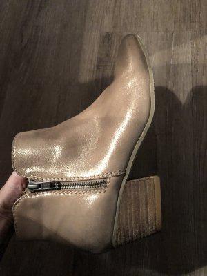 SPM echt Leder Stiefeletten Ankle Boots Booties Gr.38 metallic Np 129€ zalando