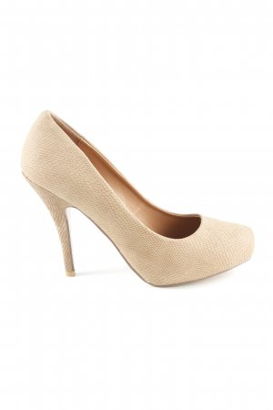 Spm High Heels beige Reptil-Optik
