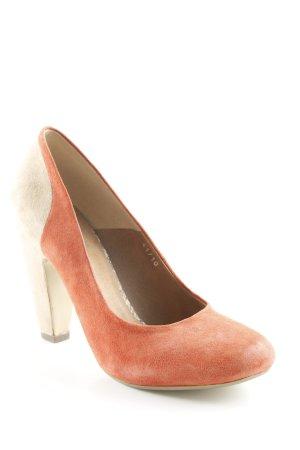 Spm High Heels beige-rostrot klassischer Stil