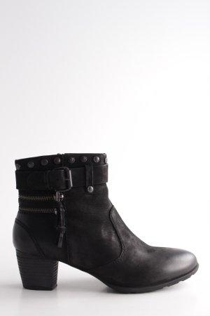 Spm Keil-Stiefeletten schwarz Casual-Look