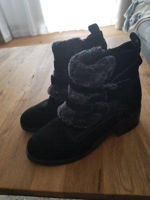 SPM Leder Schuhe mit Fell in große 38