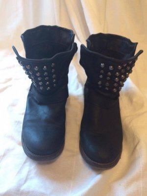 Spm Boots black leather