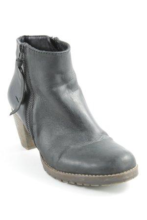 Spm Reißverschluss-Stiefeletten schwarz-graubraun Casual-Look