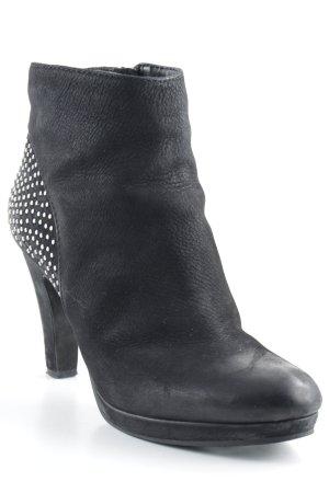Spm Reißverschluss-Stiefeletten schwarz Party-Look