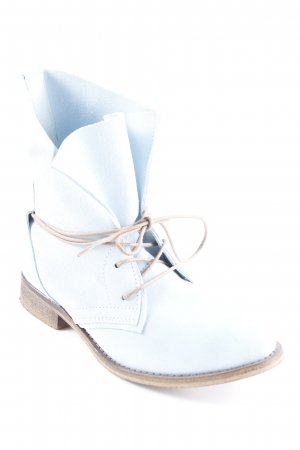 Spm Schnür-Stiefeletten himmelblau-hellbraun Street-Fashion-Look