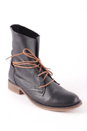 Spm Schnür-Stiefeletten schwarz schlichter Stil