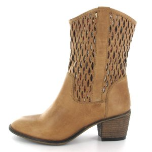 Spm Western Booties beige-sand brown leather