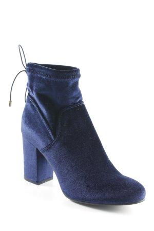 Spm Slouch Booties dark blue velvet appearance