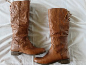 Spm Jackboots cognac-coloured leather
