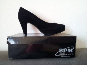 SPM Velourleder Plateau Pumps