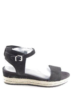 Spm Wedges Sandaletten schwarz Casual-Look