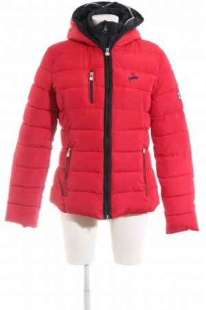 Spooks riding Quilted Jacket red themed print casual look