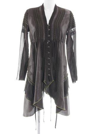 Sport Alm Vestido estilo flounce negro-gris oscuro Mezcla de patrones