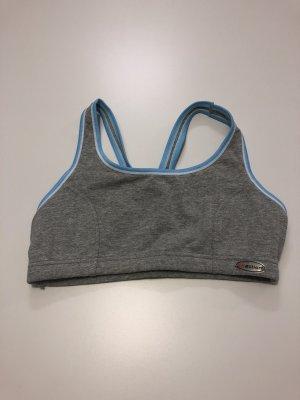 Sporttop lichtblauw-grijs