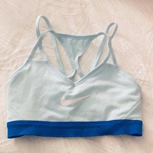 Nike Soutien-gorge bleu azur-blanc