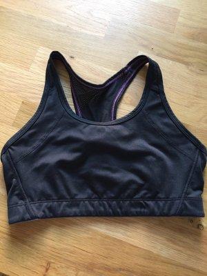 H&M Sporttop zwart-violet