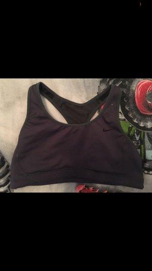 Nike Soutien-gorge gris anthracite