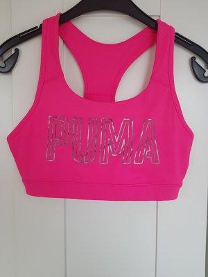 Puma Bra silver-colored-neon pink