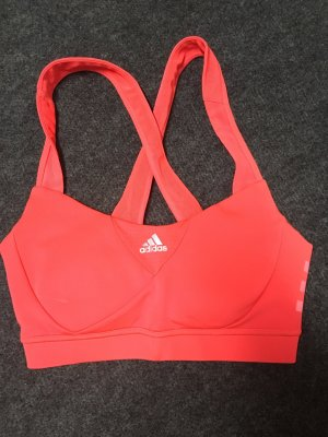 Sport BH Top Bustier Adidas Koralle orange Lachs XXS XS 32 34