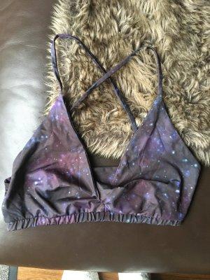 Sport BH von MOONCHILD Yogawear stars Sterne Weltraum Weltall Bikini bra