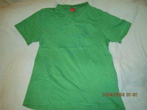 Sport-Druck(Striker)T-Shirt dunkles grasgrün/marine Druck *S. Oliver* Gr. S/M