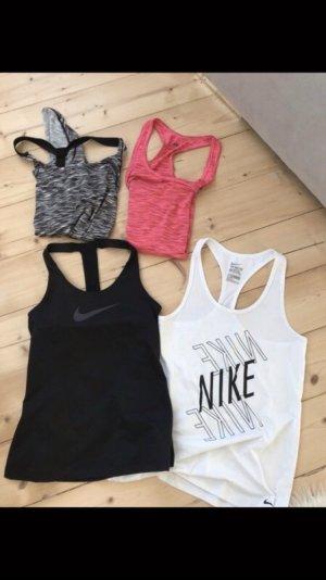 Sport Fitness top xs s pink grau