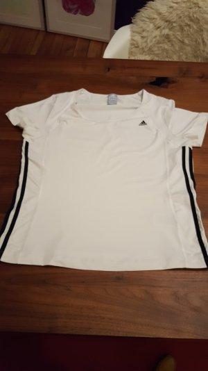 Sport / Funktions Shirt Adidas Gr. 44 / 46 weiss
