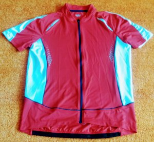 Sportshirt rood-wit Polyester